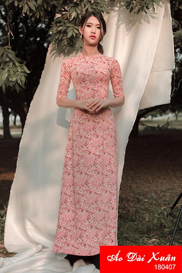 áo dài hoa nhí - 180407