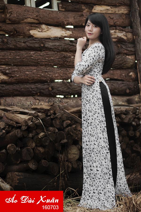 áo dài hoa nhí - 160703