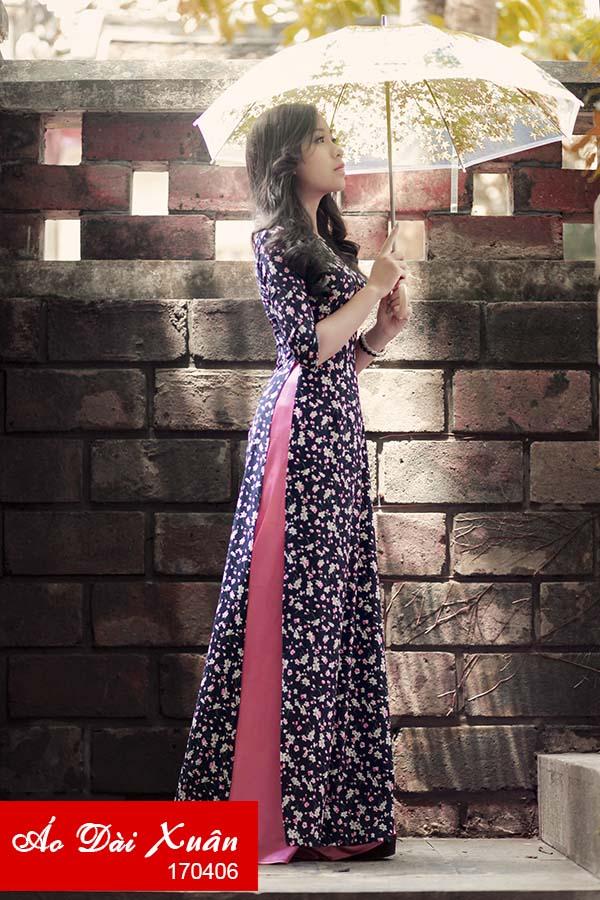 áo dài hoa nhí - 170406