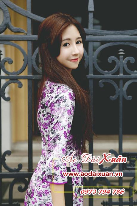 áo dài hoa nhí - 151002