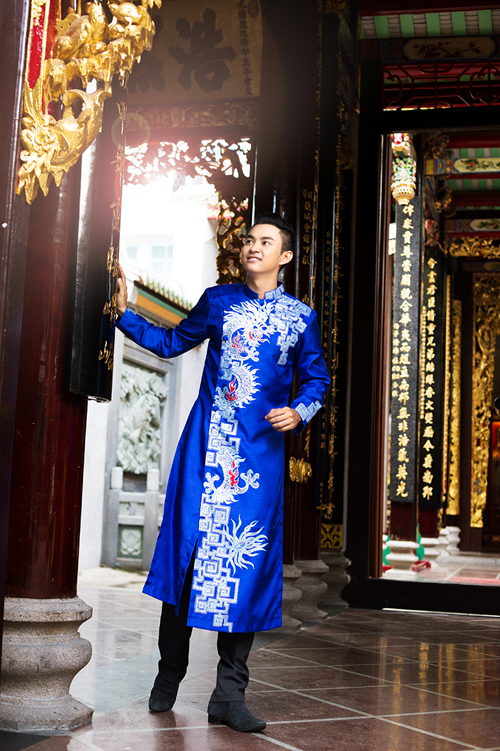 áo dài nam - 150984
