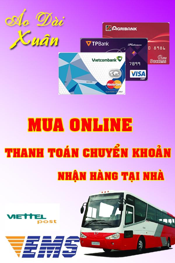 Mua online - thanh toán chuyển khoản - nhận hàng tại nhà